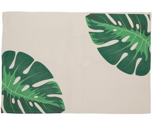 Ręcznie tkany dywan wewnętrzny/zewnętrzny Adam, Beżowy, odcienie zielonego