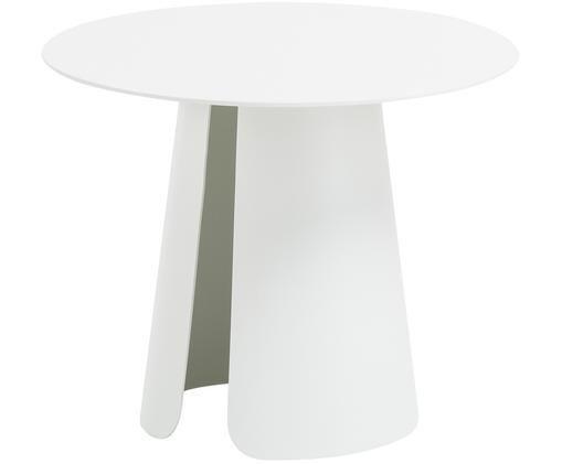 Bijzettafel Feel, Gepoedercoat aluminium, Wit, Ø 40 x H 32 cm