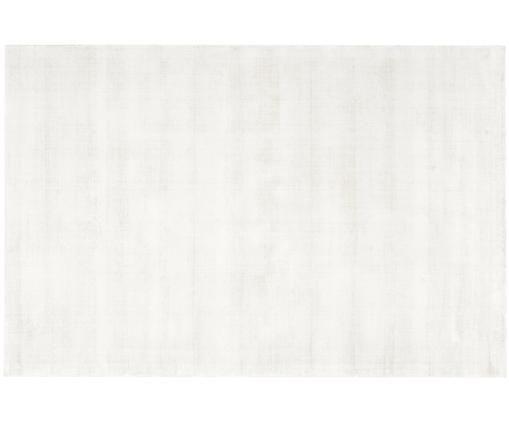 Tappeto in viscosa tessuto a mano Jane, Vello: 100% viscosa, Retro: 100% cotone, Avorio, Larg. 120 x Lung. 180 cm (taglia S)