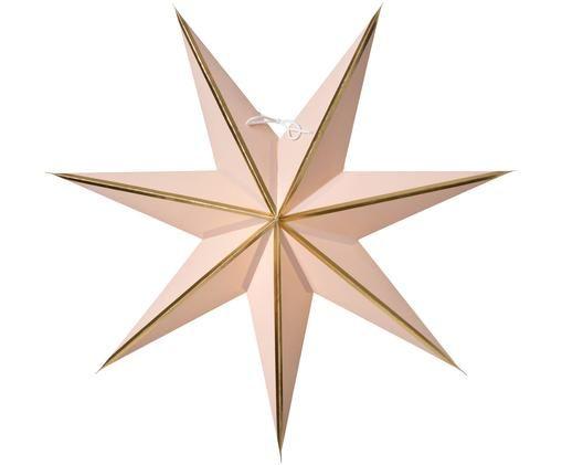 Étoile de Noëlfaite à la main Julia, Rose, couleur dorée