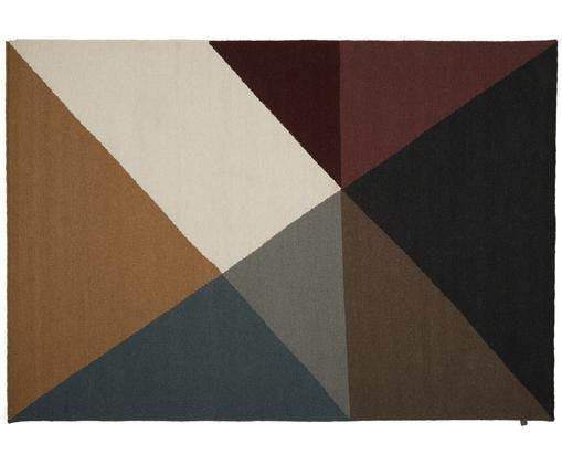 Ręcznie tkany dywan z wełny Metri, Beżowy, brązowy, musztardowy, ciemny czerwony, brudny różowy, szary, ciemny szar, S 140 x D 200 cm
