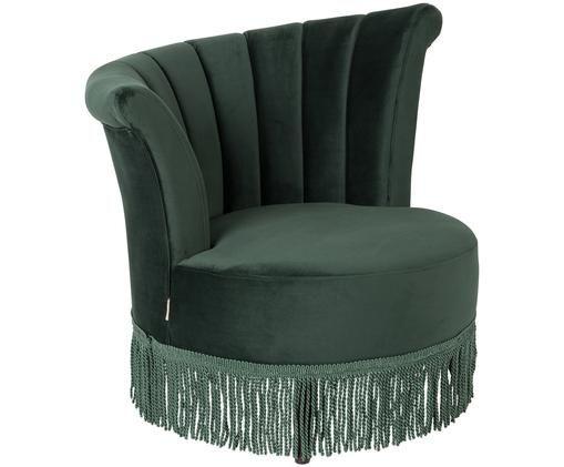 Fluwelen fauteuil Flair in donkergroen, Donkergroen