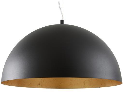 Lampada a sospensione Brad, Baldacchino: metallo verniciato a polv, Paralume: metallo verniciato a polv, Nero, Ø 53 x Alt. 25 cm