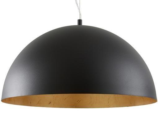 Pendelleuchte Brad, Baldachin: Metall, pulverbeschichtet, Lampenschirm: Metall, pulverbeschichtet, Schwarz, ∅ 53 x H 25 cm