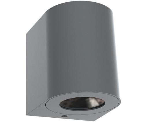 LED Wandleuchte Canto, Aluminium, beschichtet, Grau, 9 x 10 cm