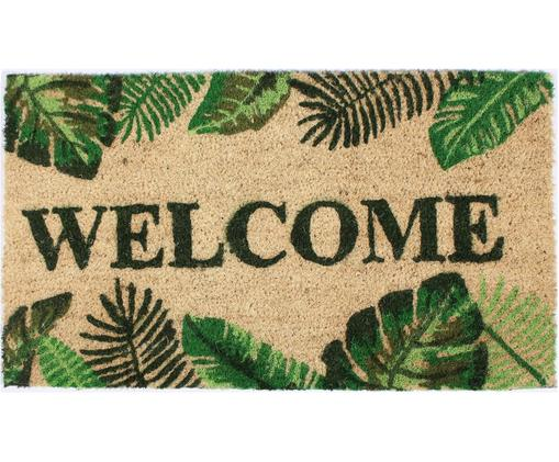 PaillassonWelcome, Beige, tons verts