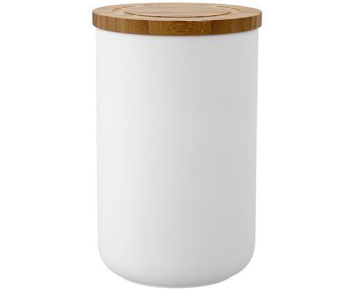 Boîte de rangement Stak, Blanc, bambou