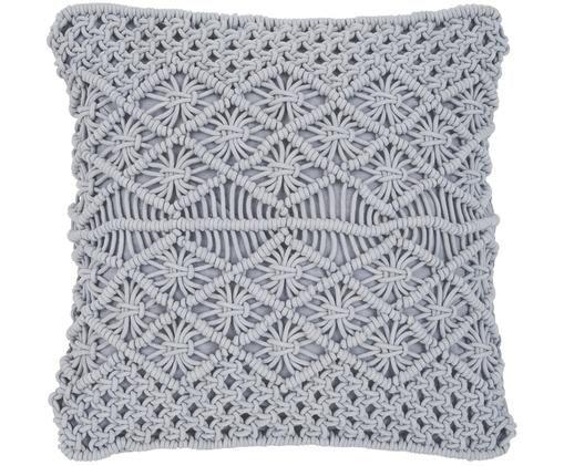Poszewka na poduszkę Nalina, 100% bawełna, Szary, S 45 x D 45 cm