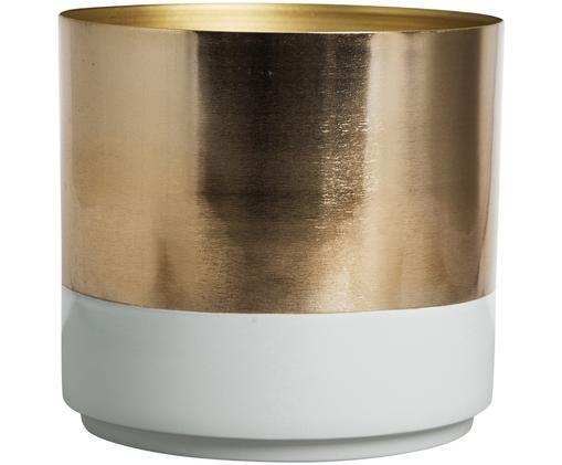 Porta vaso Aria, Acciaio, parzialmente verniciato, Dorato, grigio chiaro, Ø 18 x A 18 cm
