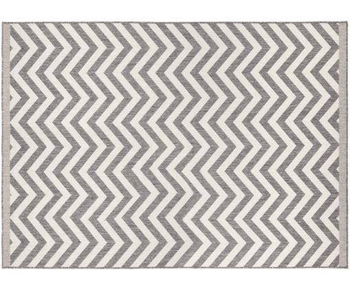 Dubbelzijdig in- & outdoor vloerkleed Palma, Grijs, crèmekleurig, B 120 x L 170 cm (maat S)