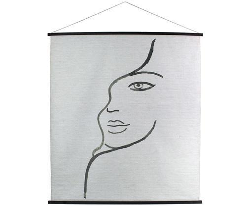 Decorazione da parete Juniper, Immagine: cotone, Bianco, nero, Larg. 140 x Alt. 170 cm