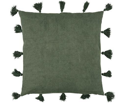 Poduszka Bonita, Tapicerka: bawełna, Zielony, S 45 x D 45 cm