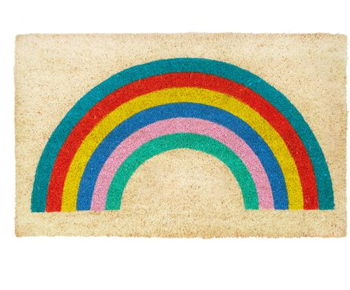 Wycieraczka Rainbow, Włókno kokosowe, Wielobarwny, S 45 x D 75 cm