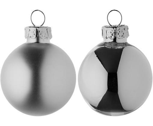 Set mini palline di Natale Evergreen, 16 pz., Argentato