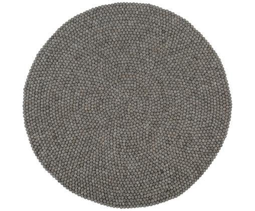 Ręcznie szyty dywan z wełny Dot, Stalowoszary, Ø 90 cm (Rozmiar XS)