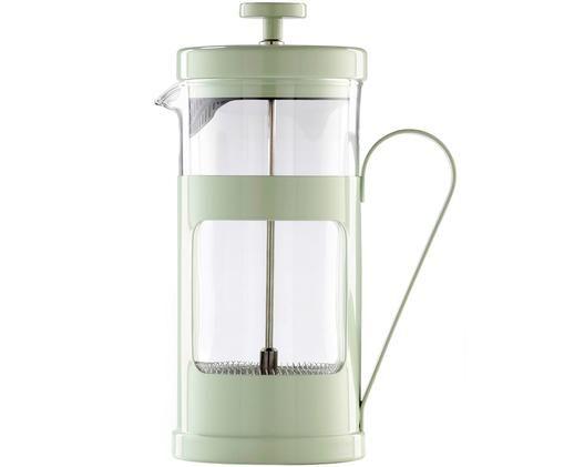 Kaffeezubereiter Monaco, Edelstahl lackiert, Borosilikatglas, Transparent, Mint, 1 L