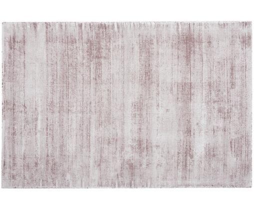 Tappeto in viscosa tessuto a mano Jane, Vello: 100% viscosa, Retro: 100% cotone, Lilla, Larg. 120 x Lung. 180 cm