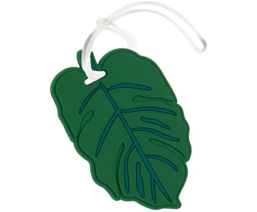 Bagagelabel Leaf, Groen, wit