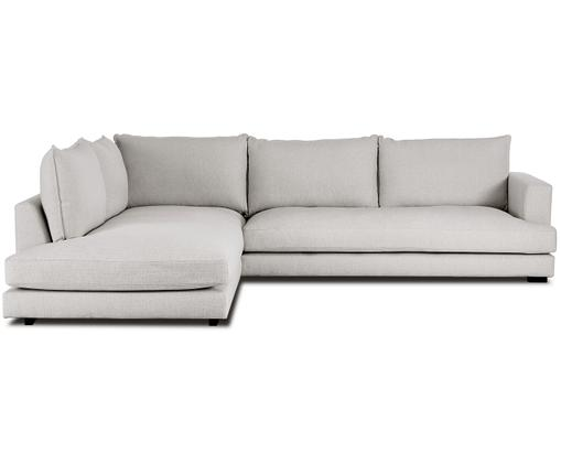 Ecksofa Tribeca, Bezug: Polyester 20.000 Scheuert, Sitzfläche: Schaumpolster, Fasermater, Gestell: Massives Kiefernholz, Beigegrau, 315 x 84 cm