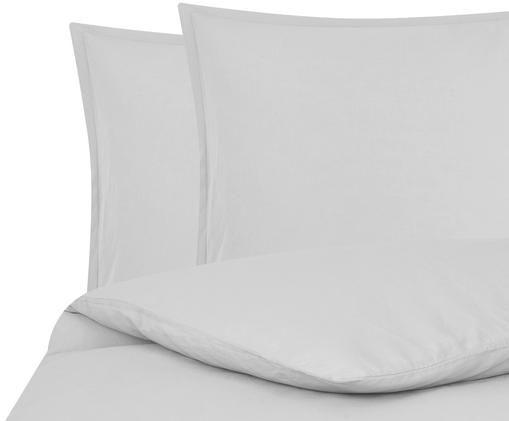 Gewaschene Leinen-Bettwäsche Breezy in Hellgrau, 52% Leinen, 48% Baumwolle Mit Stonewash-Effekt für einen weichen Griff, Hellgrau, 240 x 220 cm