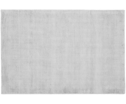Ręcznie tkany dywan z wiskozy Jane, Srebrnoszary