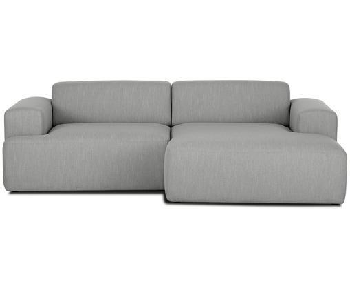Ecksofa Marshmallow (3-Sitzer), Bezug: Polyester 35.000 Scheuert, Gestell: Massives Kiefernholz, Spa, Füße: Kiefernholz, Webstoff Grau, B 240 x T 144 cm