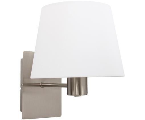 Applique en métal chromé Astoria, Structure: chrome. Abat-jour: blanc