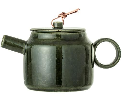 Tetera Joelle, Tetera: gres, Cordón: cuero, Verde, 750 ml