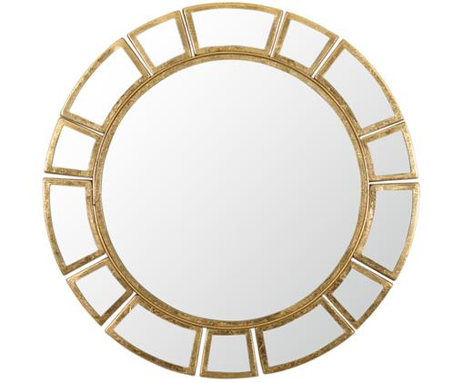 Espejo de pared redondo Amy, Espejo: cristal, Dorado, Ø 78 x F 2 cm