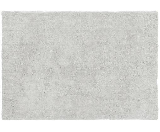 Tappeto peloso morbido grigio chiaro Leighton, Vello: 100% poliestere (microfib, Retro: 100% poliestere, Grigio chiaro, Larg. 120 x Lung. 180 cm (taglia S)