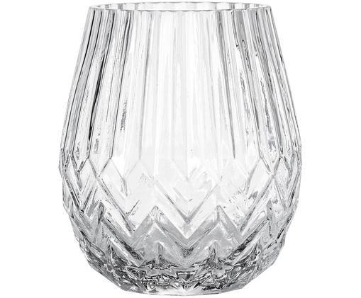 Vaso in vetro Luna, Vetro, Trasparente, Ø 14 x Alt. 17 cm