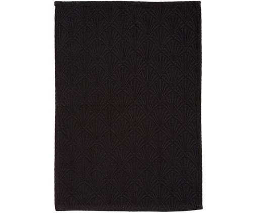 Strofinaccio Celine in nero lucido, Nero