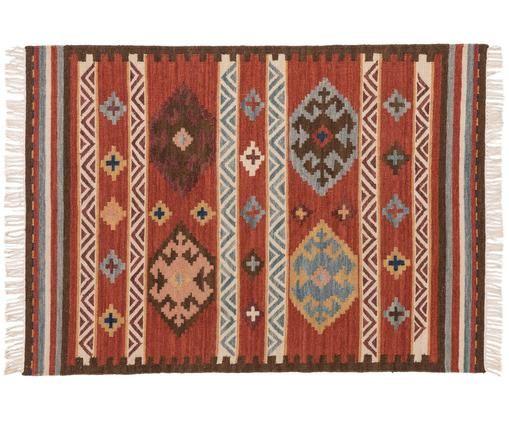 Tapis kilim en laine, tissé à la main Zohra