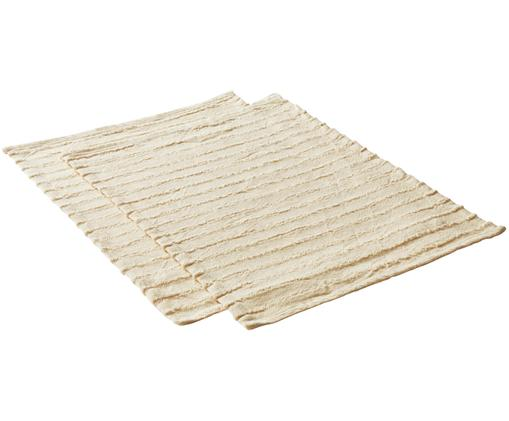 Set tovagliette Loveli, 2 pz., Cotone, Beige, Larg. 35 x Lung. 45 cm