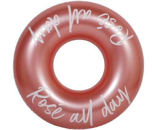 Aufblasbarer Schwimmring All Day, Kunststoff (PVC), Rosegoldfarben, Weiß, Ø 110 x H 35 cm