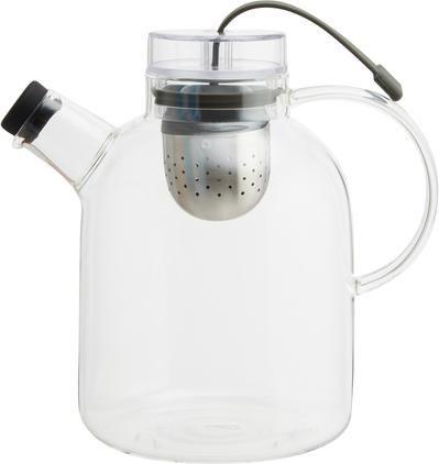 Design Teekanne Kettle aus Glas mit Tee-Ei
