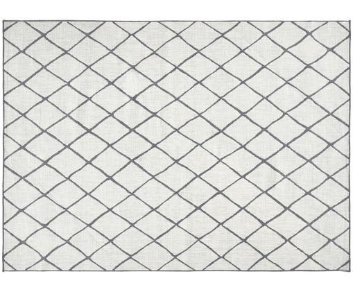 Tappeto reversibile da interno-esterno Malaga, Grigio, color crema, Larg. 200 x Lung. 290 cm (taglia L)
