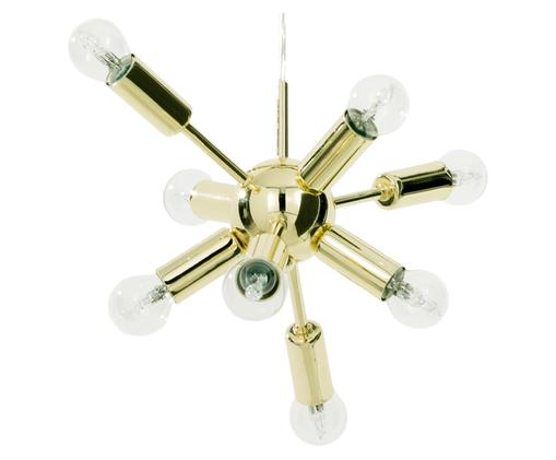 Lampa wisząca XS Spike, Osłona mocowania sufitowego: odcienie złotego. Klosz: odcienie złotego. Kabel: t, Ø 30 cm