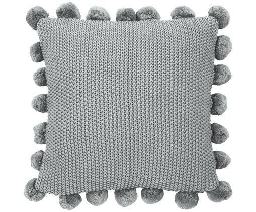 Federa arredo in cucitura a maglia Molly, 100% cotone, Grigio chiaro, Larg. 40 x Lung. 40 cm