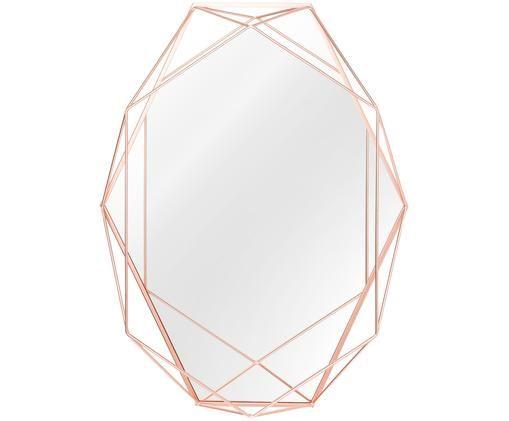Lustro ścienne Prisma, Miedź, S 43 x W 57 cm