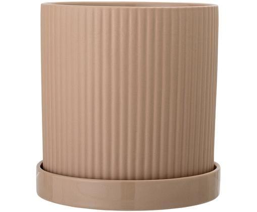 Osłonka na doniczkę Wim, Ceramika, Beżowy, Ø 16 x W 17 cm