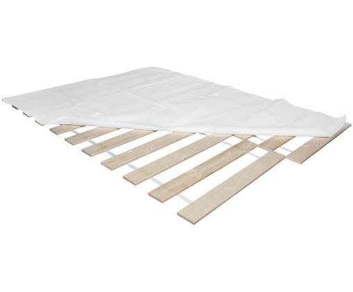 Rollrost 2er-Set Juan Carlos, Leisten: Massives Tannenholz, Leisten: Helles HolzAbdeckung: weiss, 140 x 200 cm
