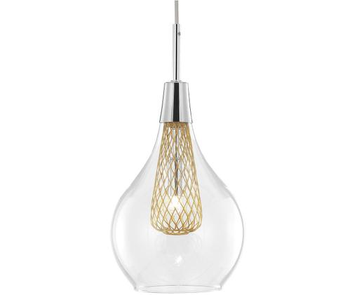Lampada a sospensione Filo, Trasparente, ottone, Ø 16 x Alt. 20 cm