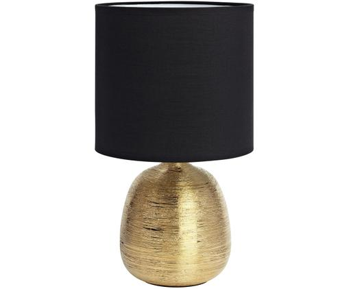 Tischleuchte Oscar in Schwarz-Gold, Schwarz, Goldfarben