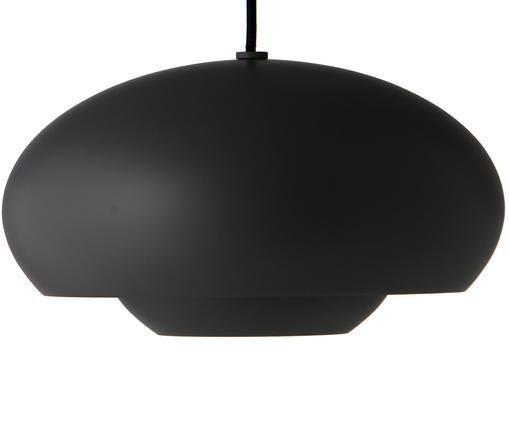 Skandi-Pendelleuchte Champ, Lampenschirm: Messing, pulverbeschichte, Schwarz, Ø 30 x H 17 cm