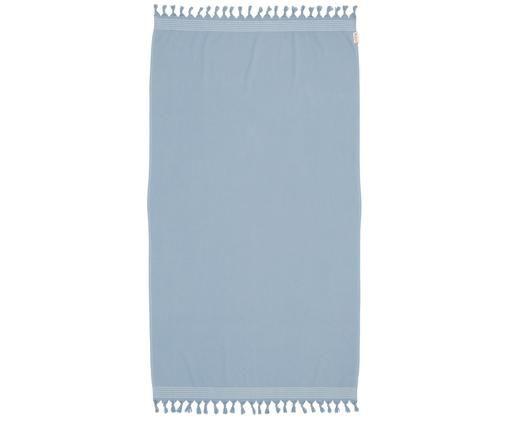 Telo da spiaggia Soft Cotton, Retro: Terry, Blu, bianco, Larg. 100 x Lung. 180 cm