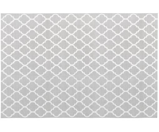 Ręcznie tkany dywan z bawełny Amira, Bawełna, Jasny szary, kremowy, D 200 x S 300 cm