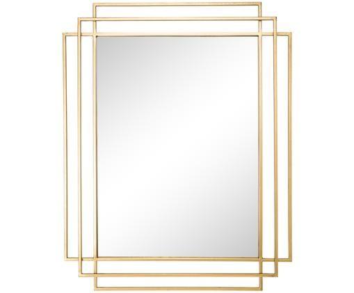Specchio da parete Square, Dorato