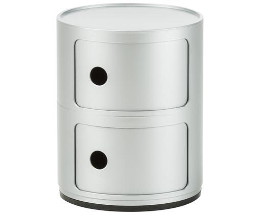 Design Container Componibile, Kunststoff, Silberfarben, Ø 32 x H 40 cm