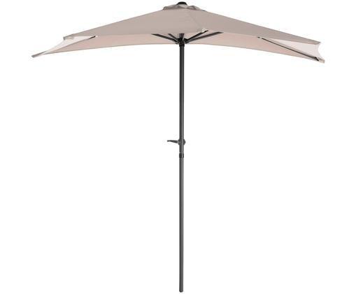 Halfronde parasol Balci, Crèmekleurig